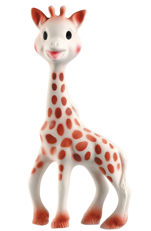Sophie the Giraffe, full of discoveries and activities to awaken baby's senses. Sight: The dark and contrasting spots all over Sophie the Giraffe's body provide visual stimulation and make her easily recognizable to baby. She soon becomes a familiar and reassuring object. Hearing: Her squeaker keeps baby amused and stimulates his hearings. Taste: Sophie the Giraffe is very flexible and has lots of parts for baby to chew like ears, horns, legs. She is perfect for soothing baby's sore gum when teething and is completely safe. Made of 100% natural rubber and food paint. Touch: Sophie the Giraffe is perfect for baby's small hands. She is very light and her long legs and neck are easy for baby to grip. She is very soft to touch, stimulating soothing physiological and emotional responses. Smell: The singular scent of natural rubber makes Sophie the Giraffe very special and easy for your child to identify. Sophie is Phthalates and BPA free. TOP BEST BABY ITEMS TO HAVE NEW MOM PREGNANT NURSERY MOTHER SEW MANY WAYS KIMI MATERNITY BABY SHOWER GIFT PRESENT TOYS ESSENTIALS