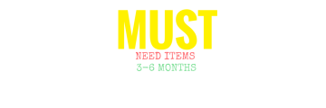#MUST #NEED #ITEMS #BABY #GEAR #3 #TO #6 #MONTHS #0 #6 #12 #BABY #REGISTRY #FIRST #TIME #MOM